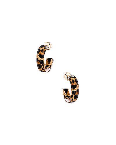 Серьги-кольца коричневый 8 Other Reasons