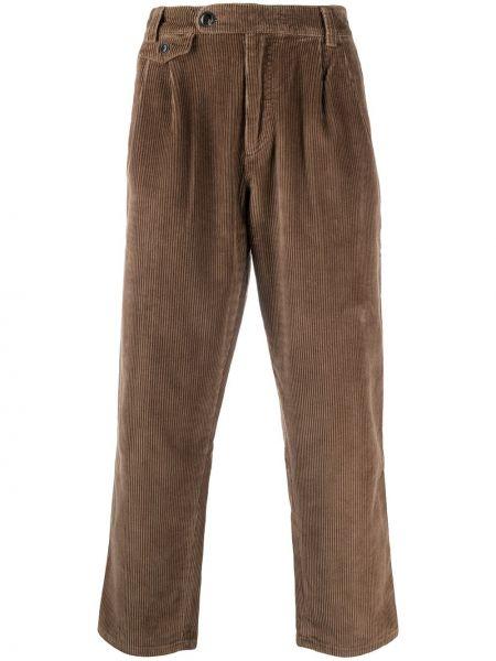 Spodni z wysokim stanem brązowy przycięte spodnie z paskiem Deus Ex Machina