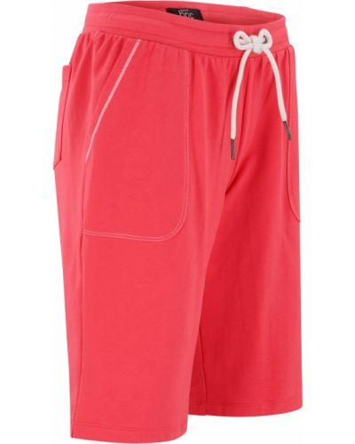 Розовые хлопковые шорты Bonprix
