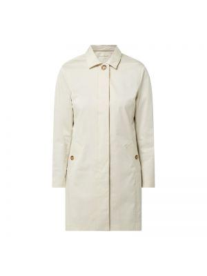 Biały płaszcz bawełniany zapinane na guziki Gant