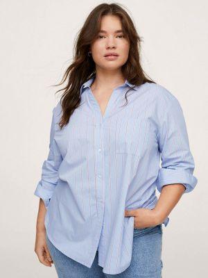 Голубая зимняя рубашка Violeta By Mango