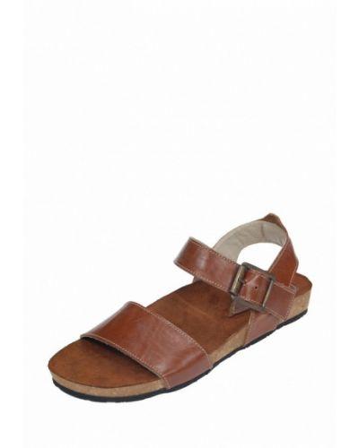 Коричневые кожаные сандалии Litvin