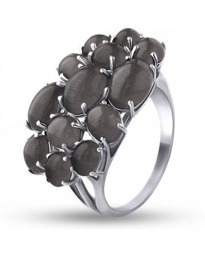 Кольцо с камнями - серое Bigsun