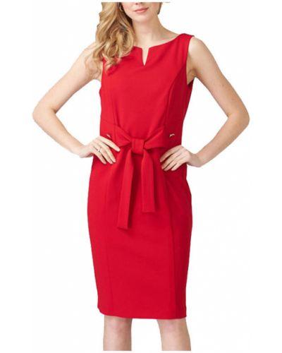 Czerwona sukienka z dekoltem w serek Joseph Ribkoff
