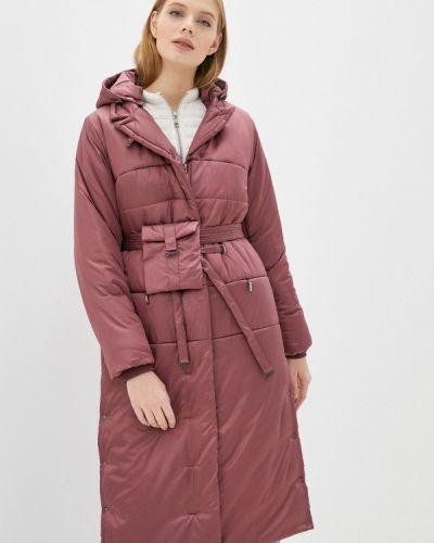 Утепленная розовая куртка D`imma