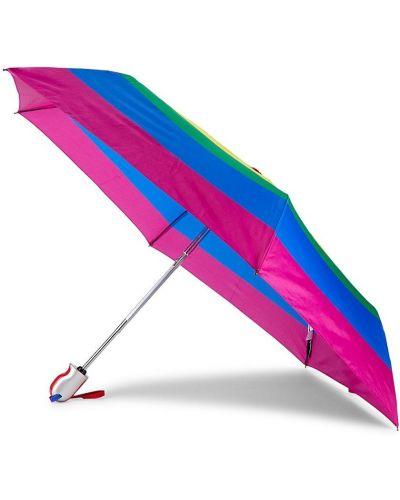 Automatyczny parasol srebrny z printem Shedrain