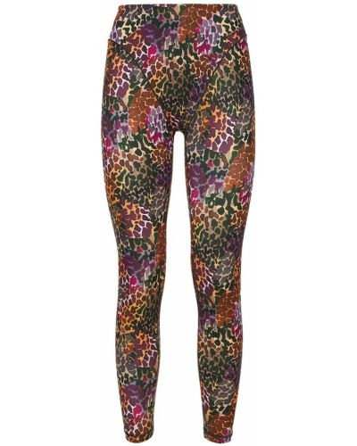 Fioletowe spodnie z printem Adam Selman Sport