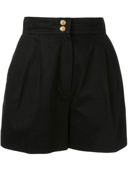 Хлопковые черные шорты Chanel Pre-owned