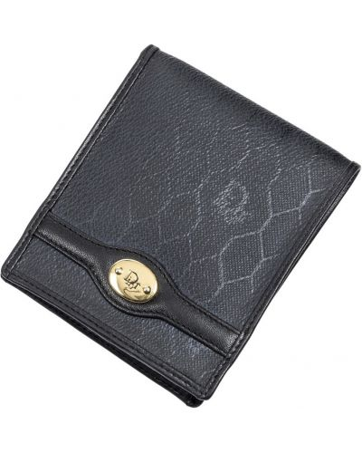 Czarny portfel skórzany elegancki Dior Vintage
