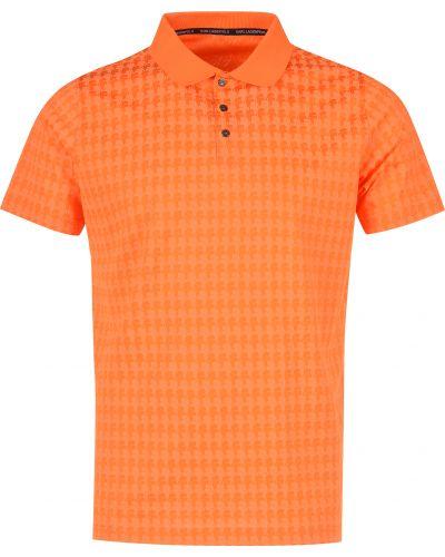 Поло оранжевый Karl Lagerfeld