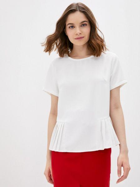 Белая блузка с коротким рукавом снежная королева