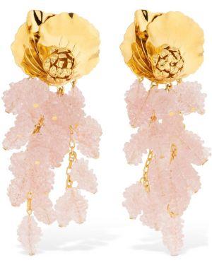 Różowe złote kolczyki sztyfty Peracas