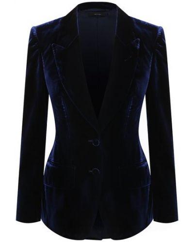 Бархатный пиджак - синий Tom Ford