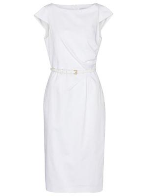 Белое платье миди на торжество стрейч Max Mara