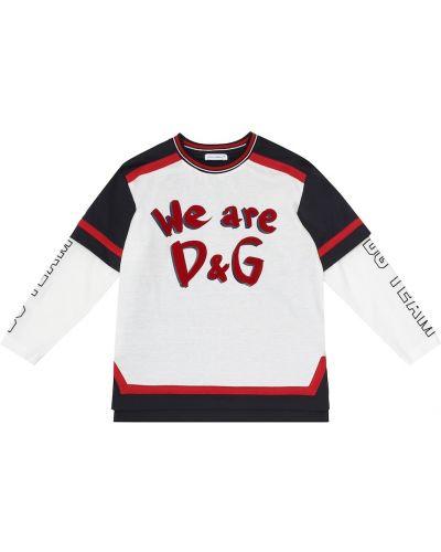Bawełna bawełna koszula Dolce & Gabbana Kids