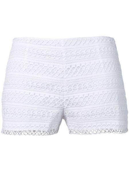 Białe szorty z niskim stanem Charo Ruiz Ibiza