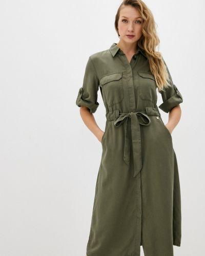 Зеленое платье-рубашка Taifun