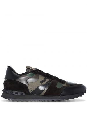 Czarne sneakersy skorzane Valentino Garavani