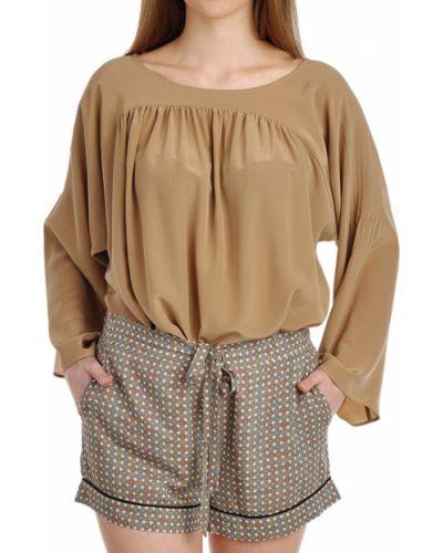 Блузка шелковая бежевый Paul & Joe