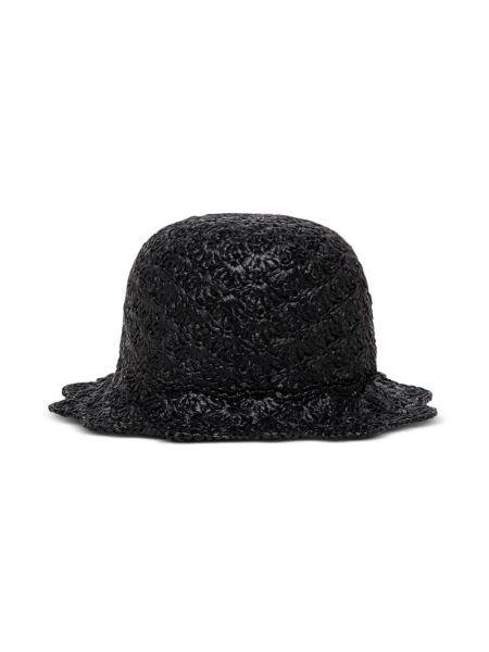 Czarny kapelusz casual Red Valentino