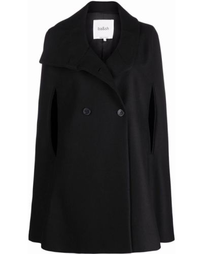 Черное шерстяное пальто Ba&sh