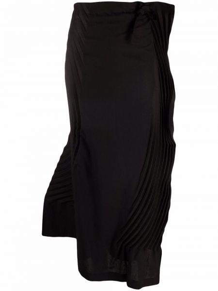Długa spódnica bawełniana - czarna Issey Miyake