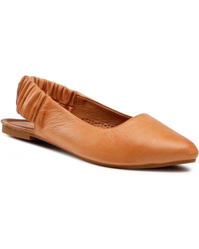 Brązowe sandały skorzane Badura