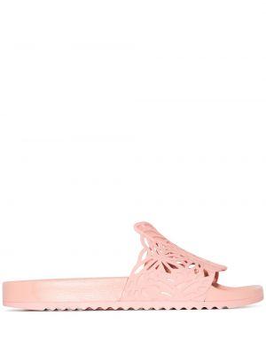 Розовые резиновые сандалии Sophia Webster