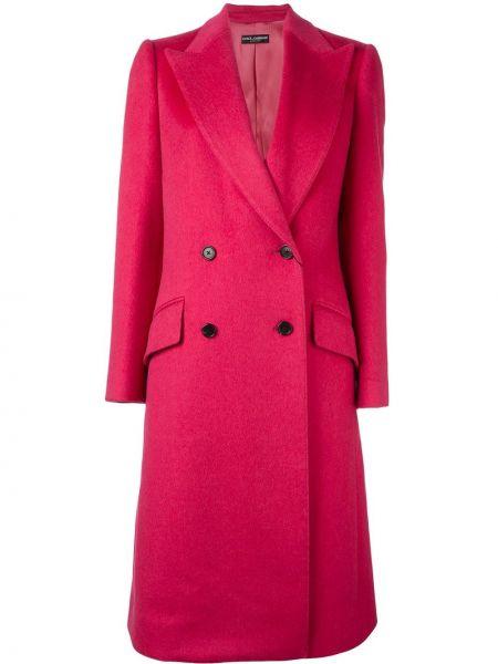 Długi płaszcz z kieszeniami wełniany Dolce And Gabbana