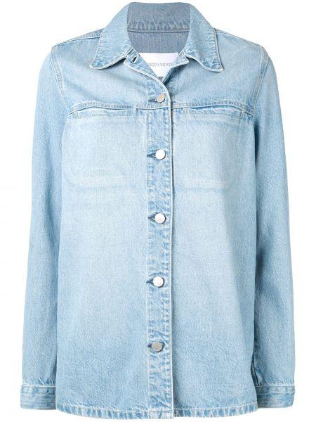 Хлопковая синяя джинсовая рубашка с воротником на пуговицах Nobody Denim