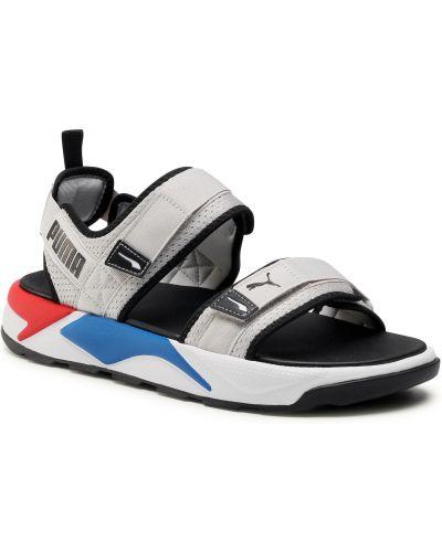 Ciepłe szare sandały skorzane Puma