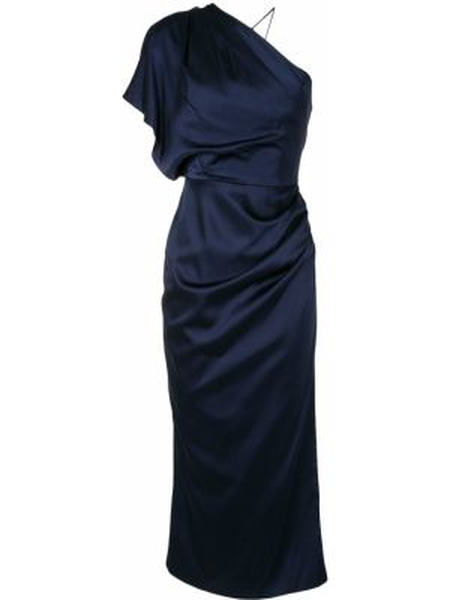 Нейлоновое приталенное тонкое платье на одно плечо Manning Cartell