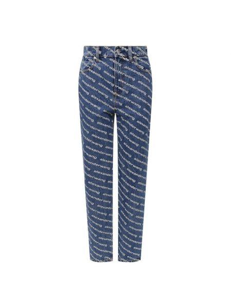 Хлопковые синие джинсы Denim X Alexander Wang