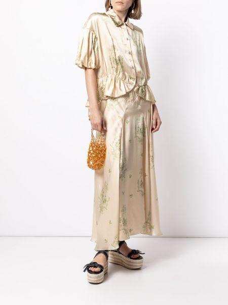 Шелковая юбка миди Simone Rocha