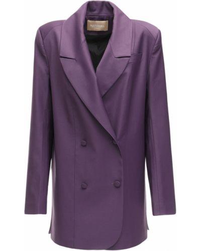 Шерстяной малиновый пиджак с карманами Matériel