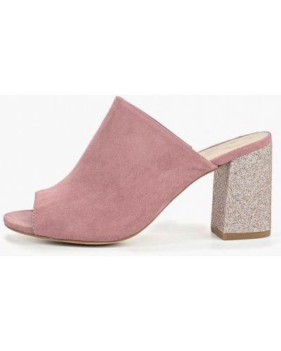 Сабо на каблуке розовый Tamaris