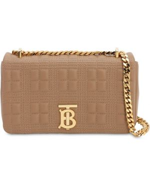 Кожаная сумка с логотипом с подкладкой Burberry