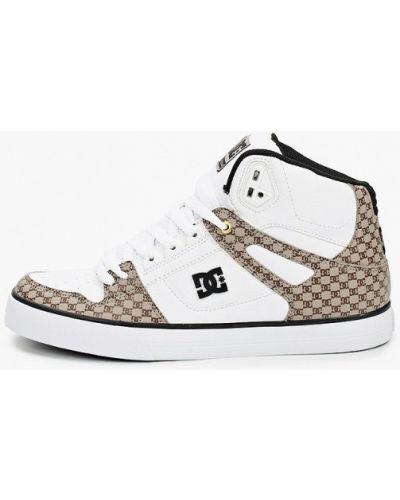 Белые кожаные пинетки Dc Shoes