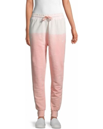 Розовые брюки с карманами с манжетами Eleven Paris