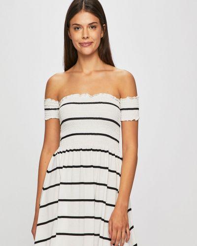 Платье с открытыми плечами из вискозы Review