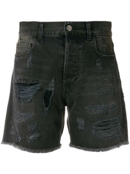 Черные джинсовые шорты на пуговицах со стразами Faith Connexion