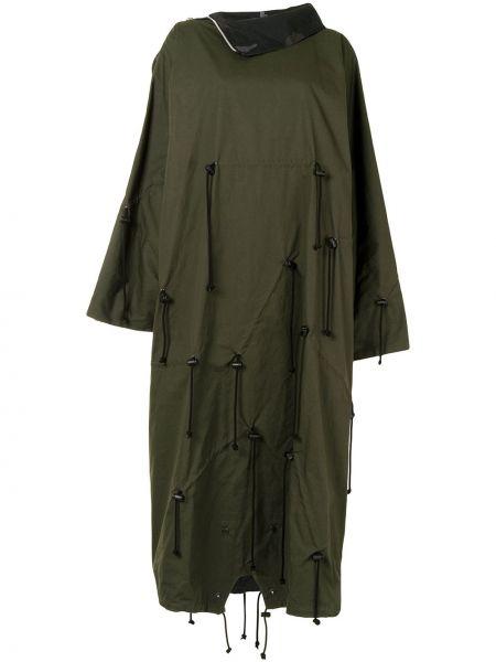 Пончо длинное - зеленое Yohji Yamamoto
