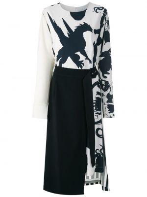 Sukienka midi z długim rękawem o prostym kroju Gloria Coelho