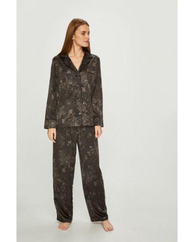 Пижама с брюками свободная черная Lauren Ralph Lauren