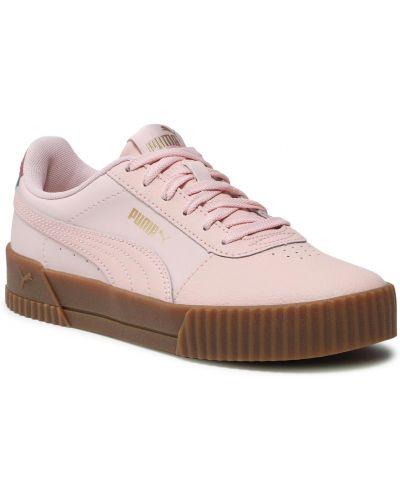 Buty sportowe skorzane - różowe Puma