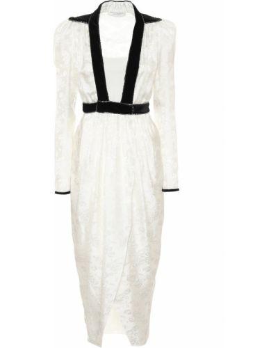 Вечернее сатиновое белое вечернее платье Philosophy Di Lorenzo Serafini