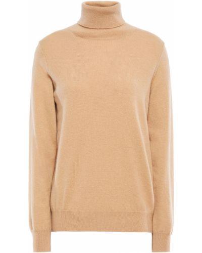 Prążkowany żółty z kaszmiru sweter N.peal