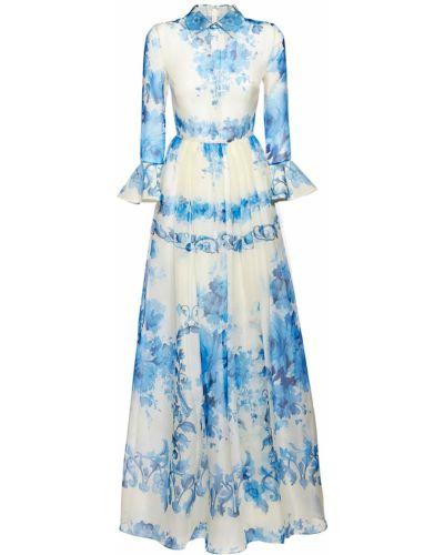 Платье макси на пуговицах из органзы Valentino