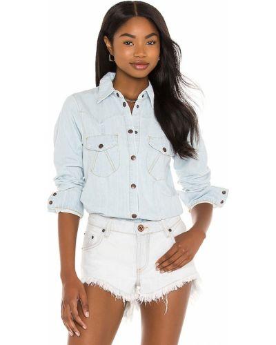 Джинсовая рубашка - синяя One Teaspoon