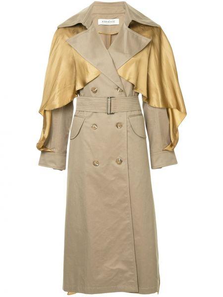 Бежевое нейлоновое пальто Kimhekim